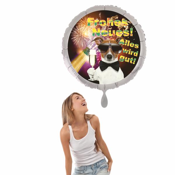 luftballon silvester frohes neues! alles wird gut!