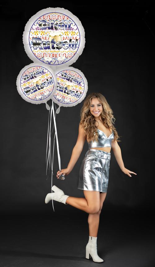 Partygeschenk Silvester Guten Rutsch Helium-Luftballon Bouquet