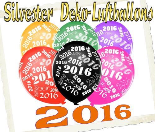 Silvester Luftballons 2016