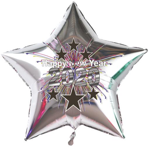 Sternluftballon Silvester 2020
