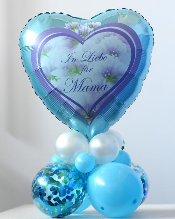 Tischdekoration Muttertag: In Liebe für Mama. Ballondeko